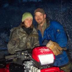 Jack and Judy enjoying a brisk ride