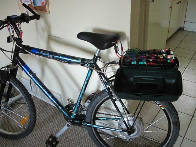 E-Bike mod: Moving the battery into the frame triangle. (2/6)