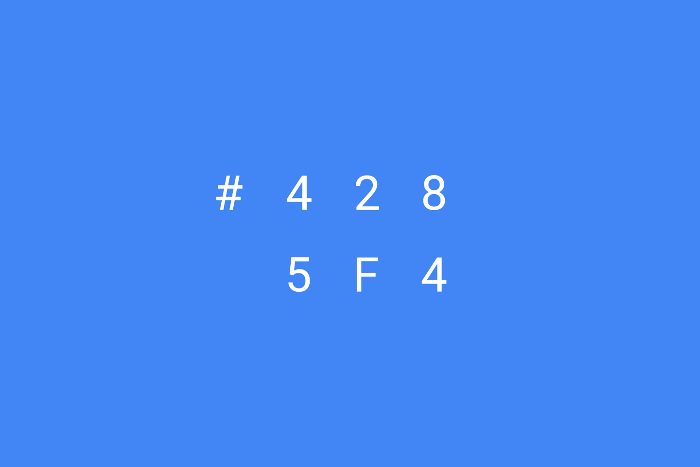 Google Brand Colors - Blue