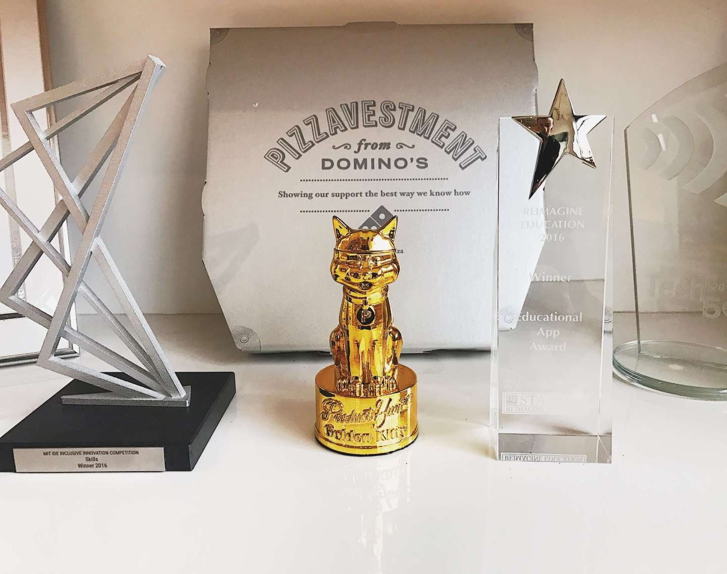 Tinycards Product Hunt Golden Kitty Award App of the Year