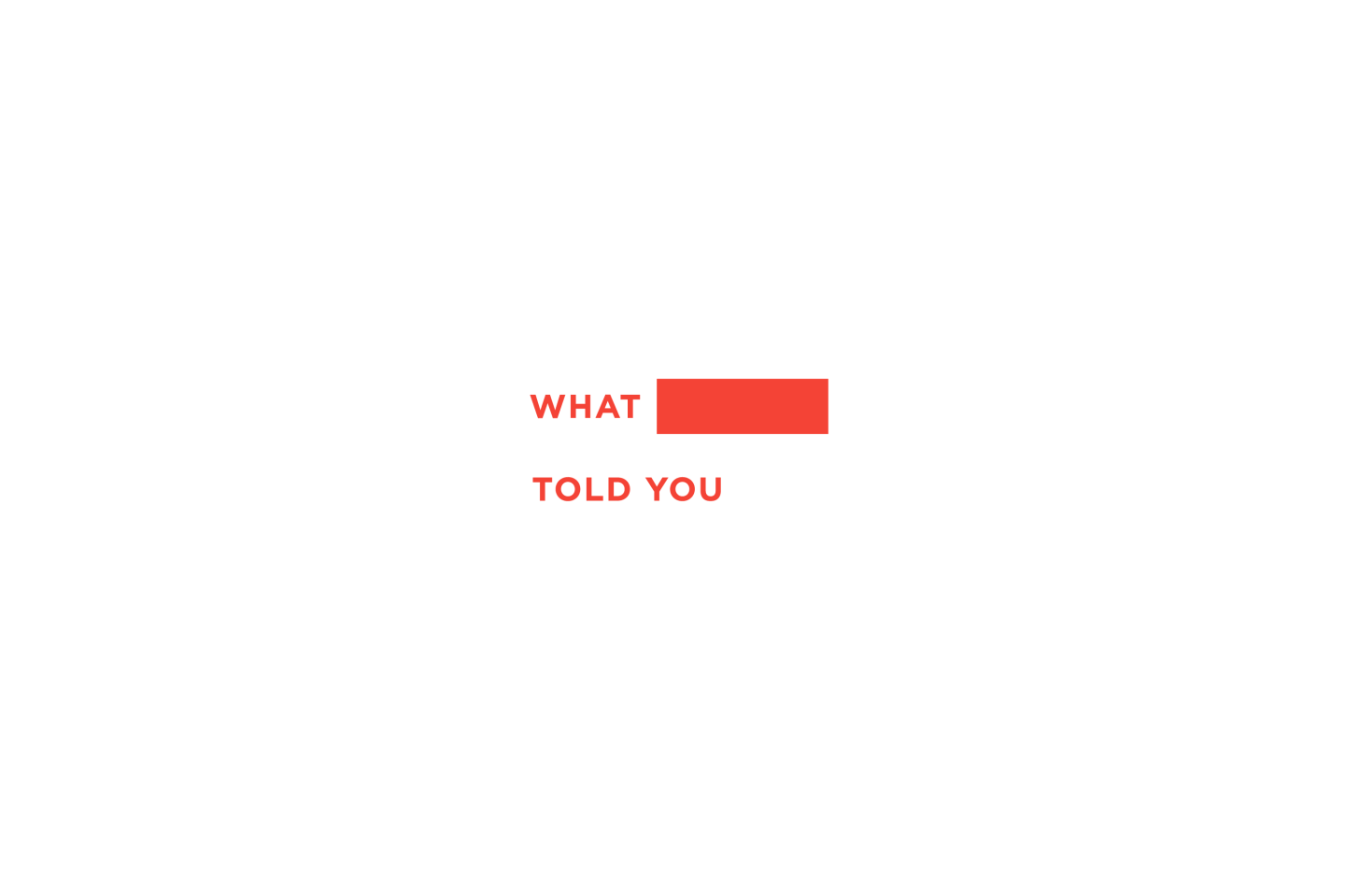 What Nobody Told You Logo