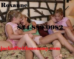 Jack off with mommy Roxanne