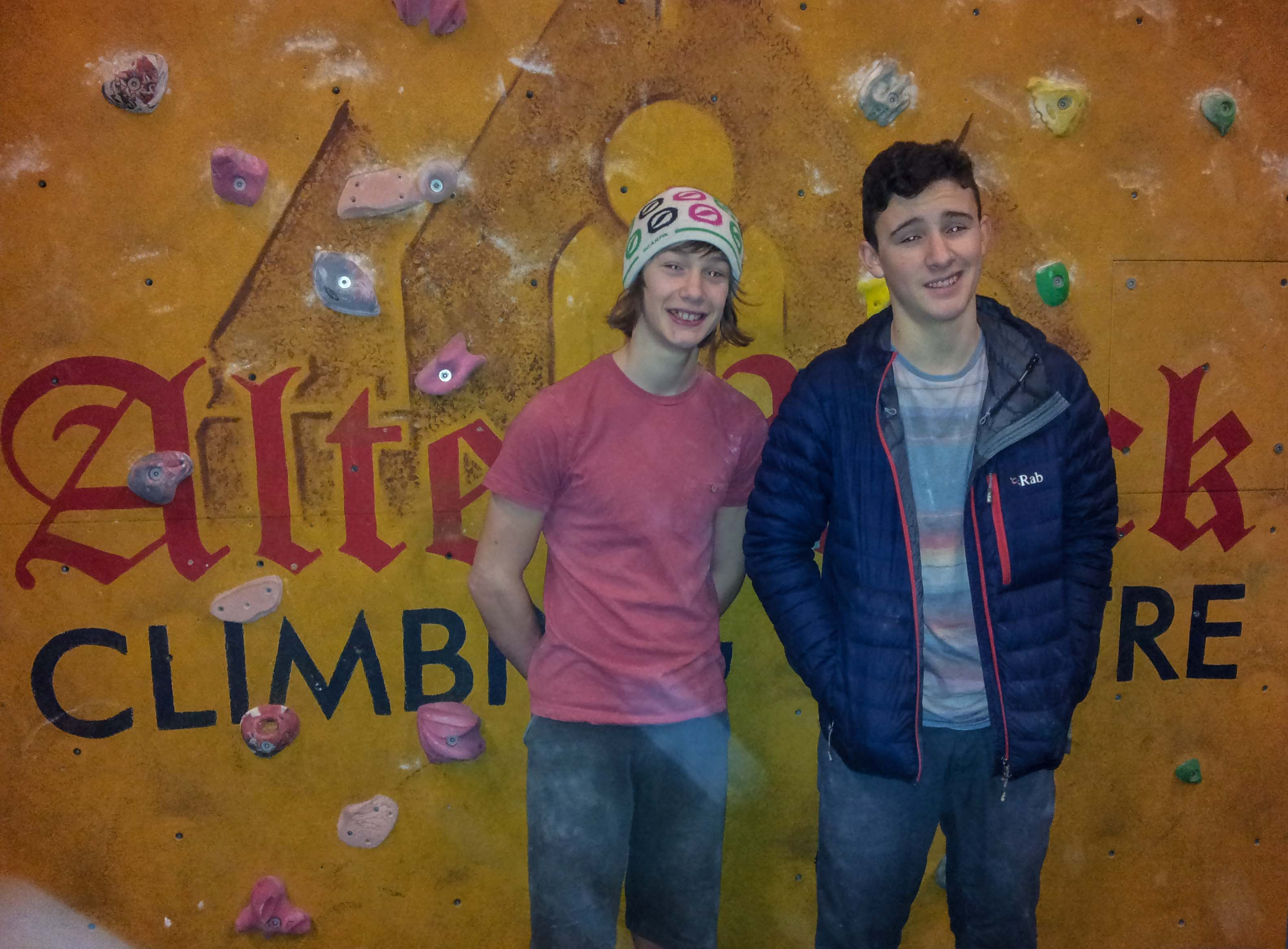 Back at Alter Rock Climbing Centre