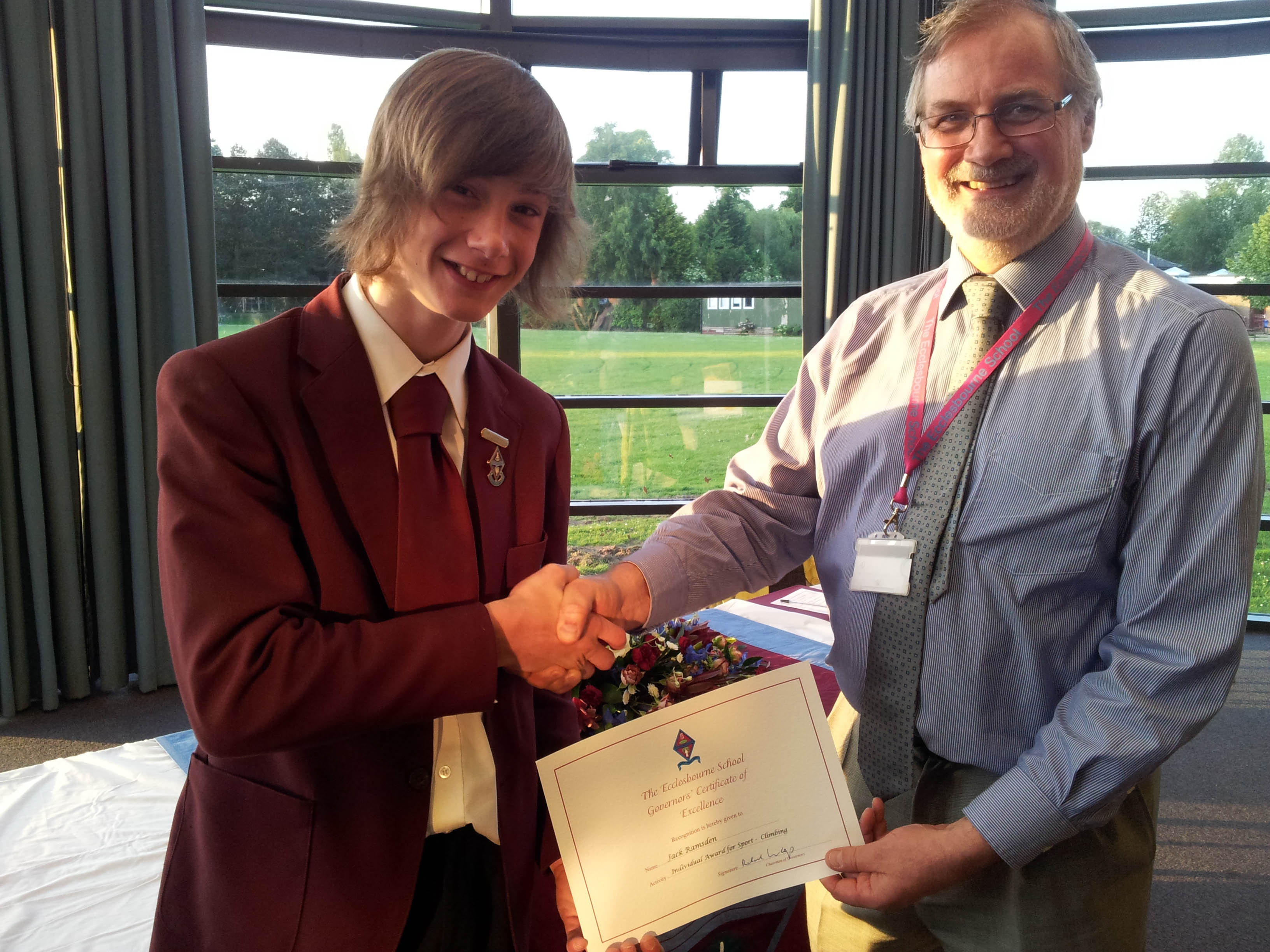 The Ecclesbourne School Governor's Reception Award Evening