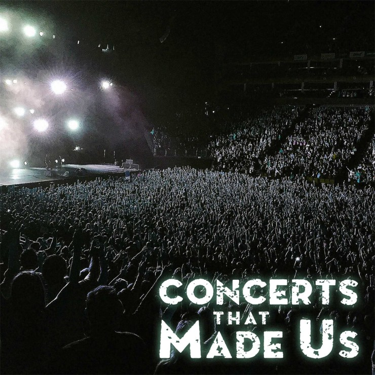 podcast cover art - concerts that made us