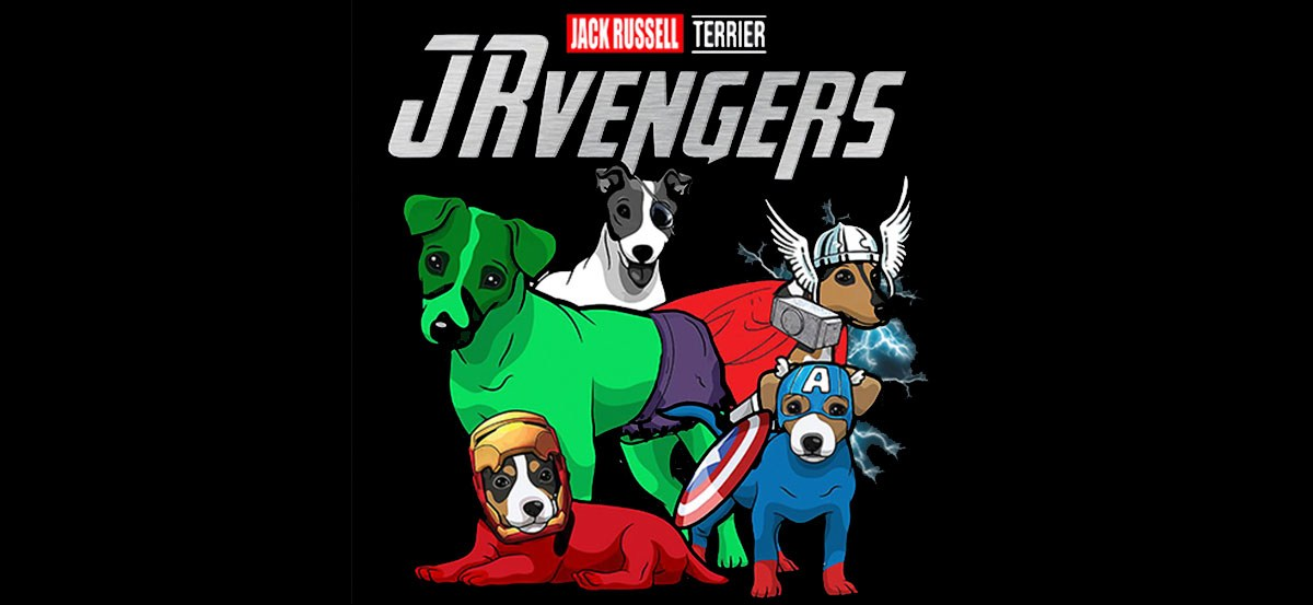 every marvel avenger is a jack russell terrier at heart
