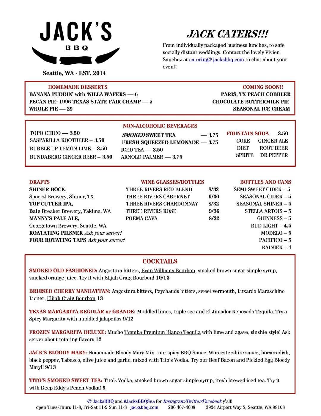 Jack's BBQ Sodo Menu July 2020 2