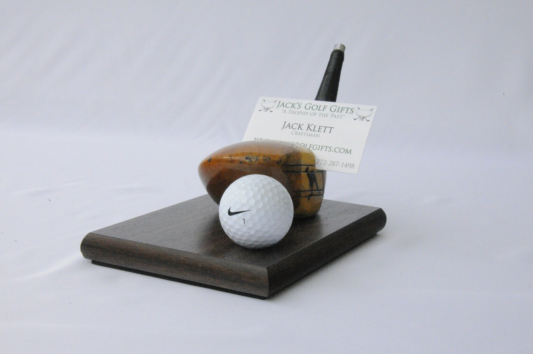 Business Card Holder with Ball - Jack\'s Golf Gifts 772-287-1498