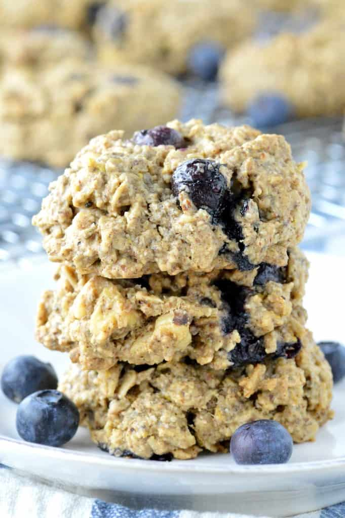 Lemon blueberry breakfast dairy free cookies