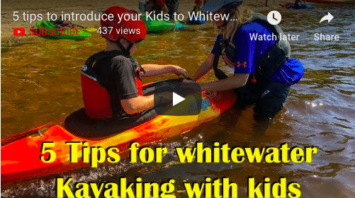 5 tips for introducing kids to Whitewater Kayaking