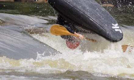 Paddling the James River in Richmond, Va.