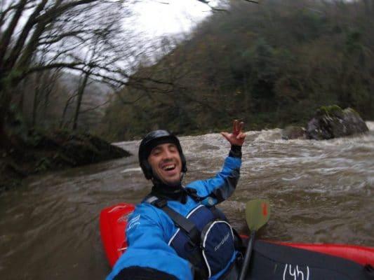 Solo run at high flows (Leitzaran)
