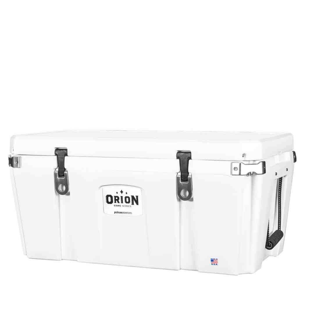 orion core 85 quart cooler white