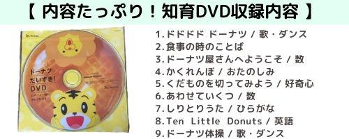 しまじろう知育DVD 収録内容一覧