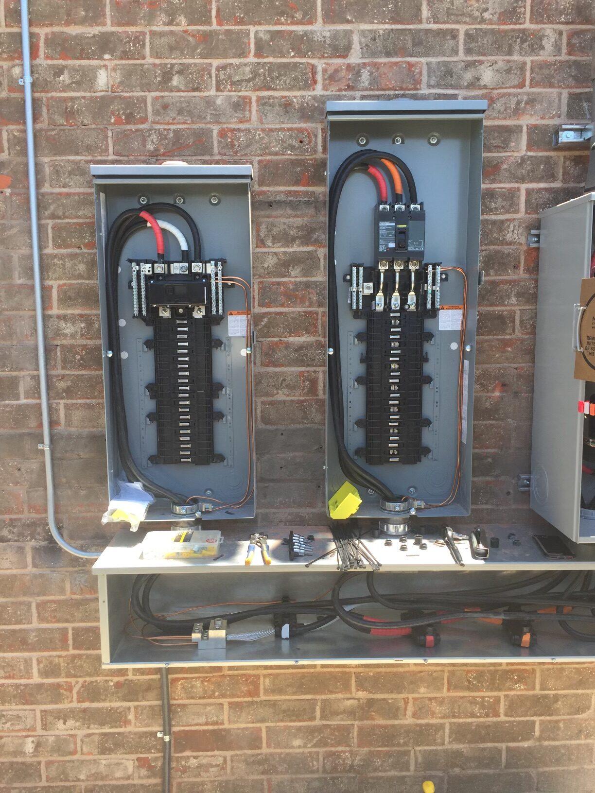 service panels gutter residential