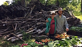 Marbury Jacobs and Taylot Yowell co-own and operate The Garden Farmacy, a Jackson-based eco-farm that delivers produce the day it's harvested. Photo courtesy The Garden Farmacy