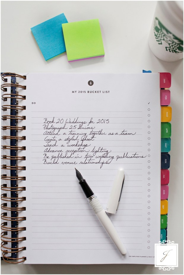 Simplified planner, goals, starbucks