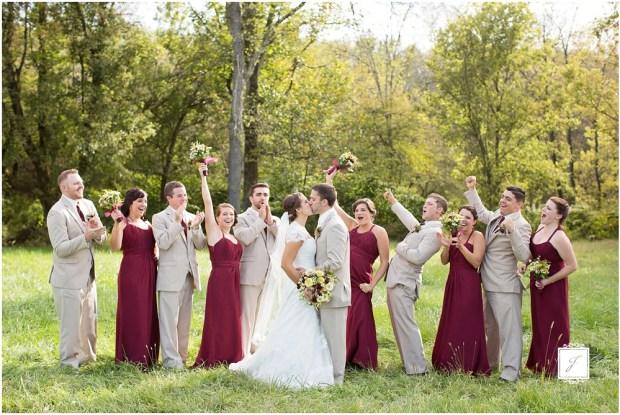 Cranberry fall wedding at Rizzos in Crabtree, Greesnburg Wedding venue. Jackson Signature Photography a Greensburg Wedding Photographer