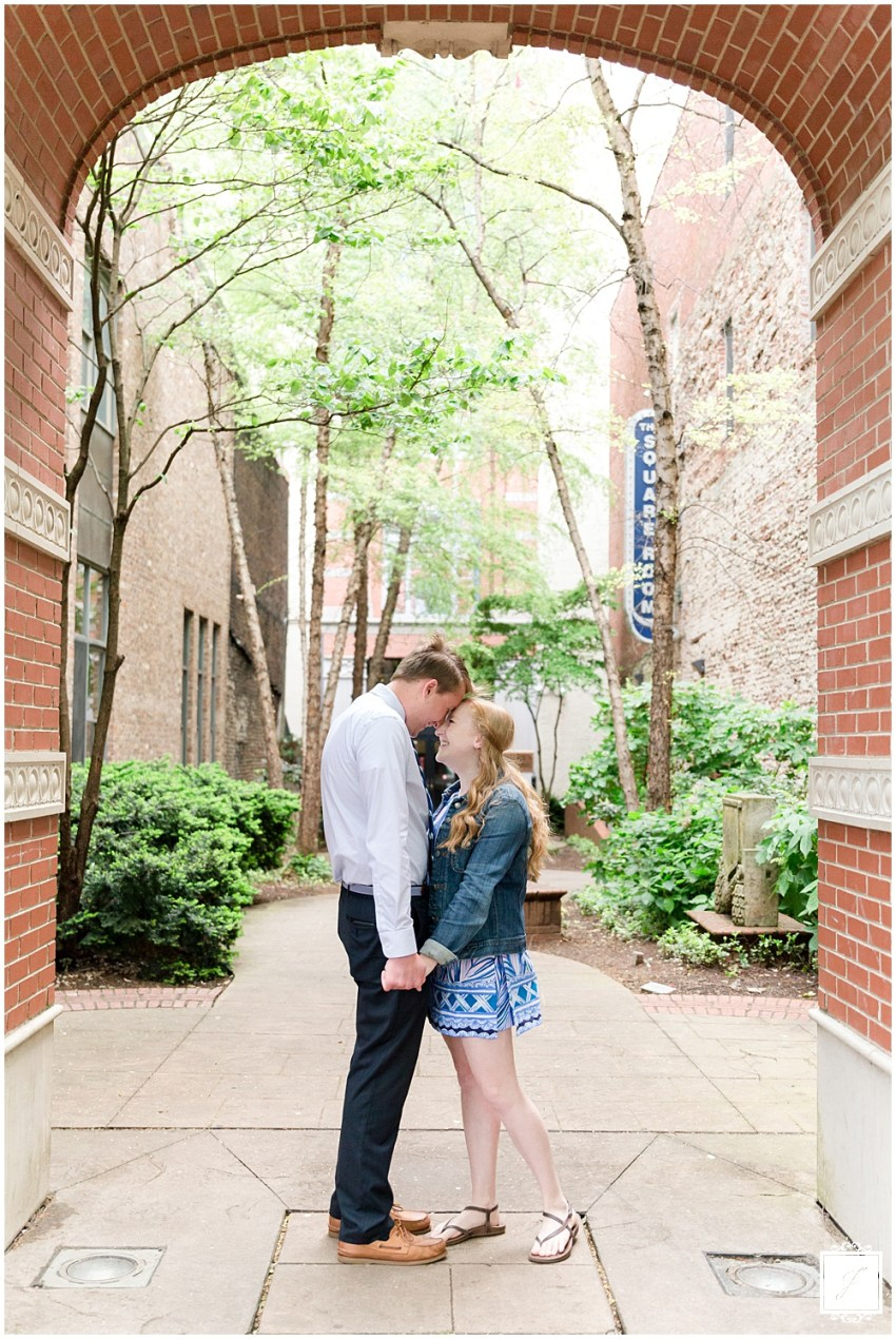 Spring Downtown Knoxville Tennessee Dogwood Festival Proposal by Jackson Signature Photography a Travel and Destination Wedding, Engagement and Proposal Photographer