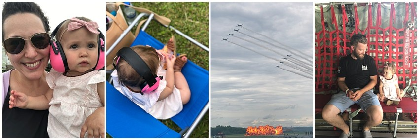 The Jackons Weekly blog post with the Latrobe Air Show, Mkayshas Bridal Lane / Kimberly James Bridal visit with a bride and friends plus Memorial Day.