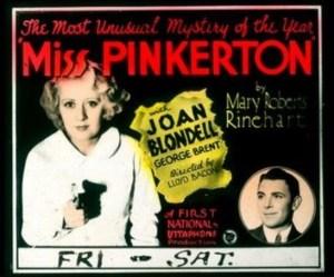 Miss Pinkerton 1932
