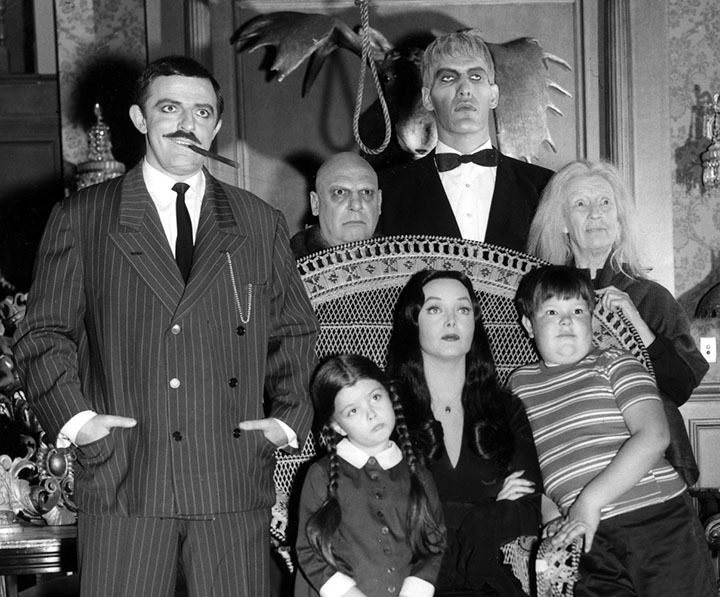 Don Rickles  on the Addams Family with John Astin and Ted Cassidy PHOTOGRAPH