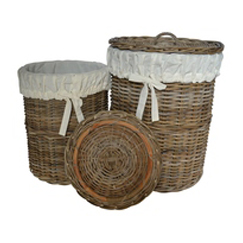 Round Laundry Basket with lining
