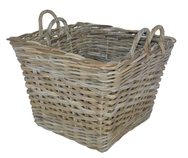 Square Baskets with Ear Handles