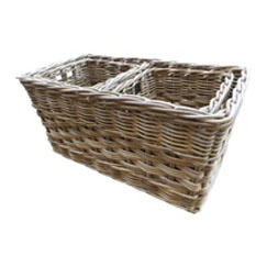 Rectangular Basket with divider at centre