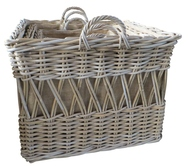 Grey Square Basket with Ear Handles