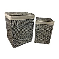 Linen Hamper Antique Wash