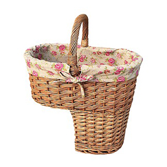 Stair Basket with Rose Lining