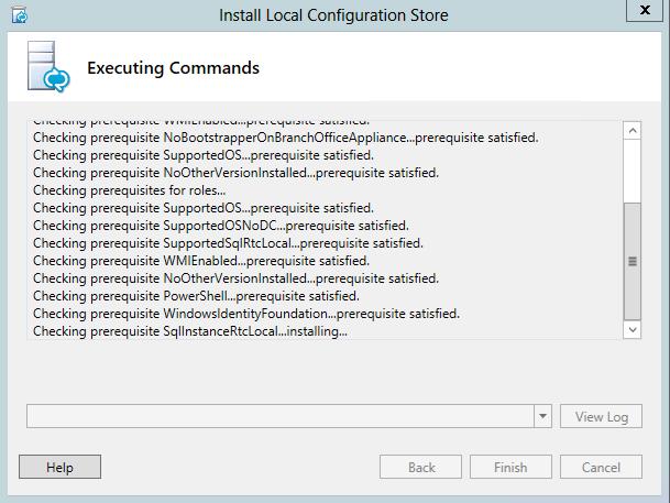 Instale Configuração da loja local - pré-requisito WindowsIdentityFoundation satisfeito