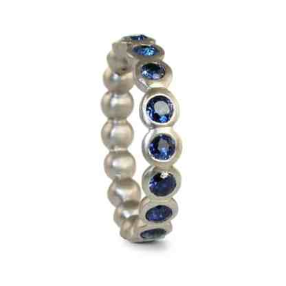 Sapphire eternity ring in 18ct white gold by Jacks Turner