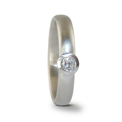 Platinum diamond solitaire ring designed by Jacks Turner
