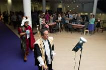 Entry procession of Karaoke Court Judge and Arbitrator Glenn Cheng and Marshall of the Court, Mr Chan Yu Meng