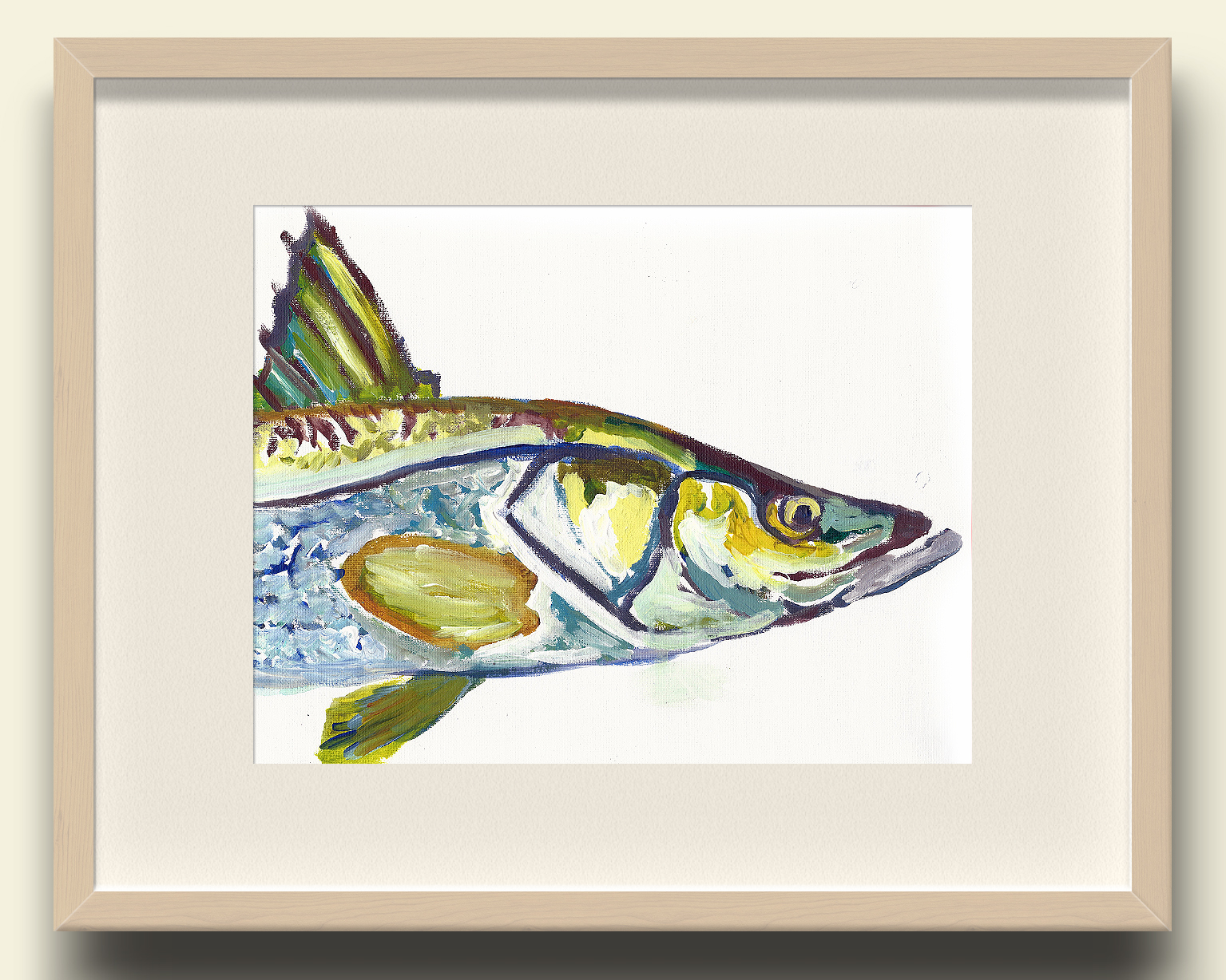 Snook Fish Wall Art Print Snook Fishing Gift