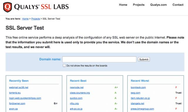 Qualys SSL LABS檢查https網站安全性