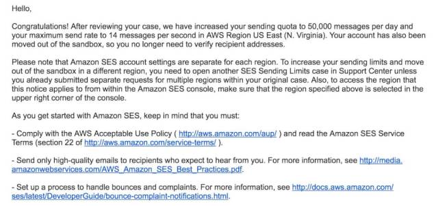 Amazon SES讓你的Email不再跑到垃圾郵件變SPAM 25