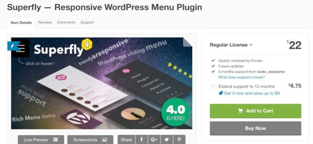 Wordpress優化mobile手機行動版本選單推薦外掛Superfly Menu 5