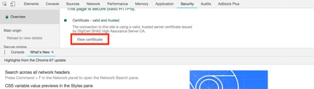 Google chrome檢視ssl憑證