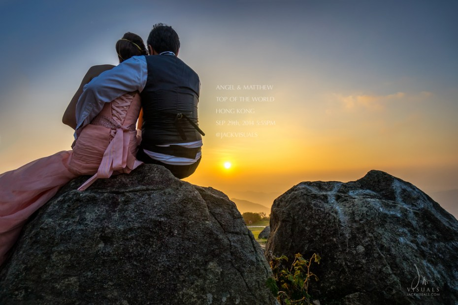 Pre-wedding photography at Tai Mo Shan