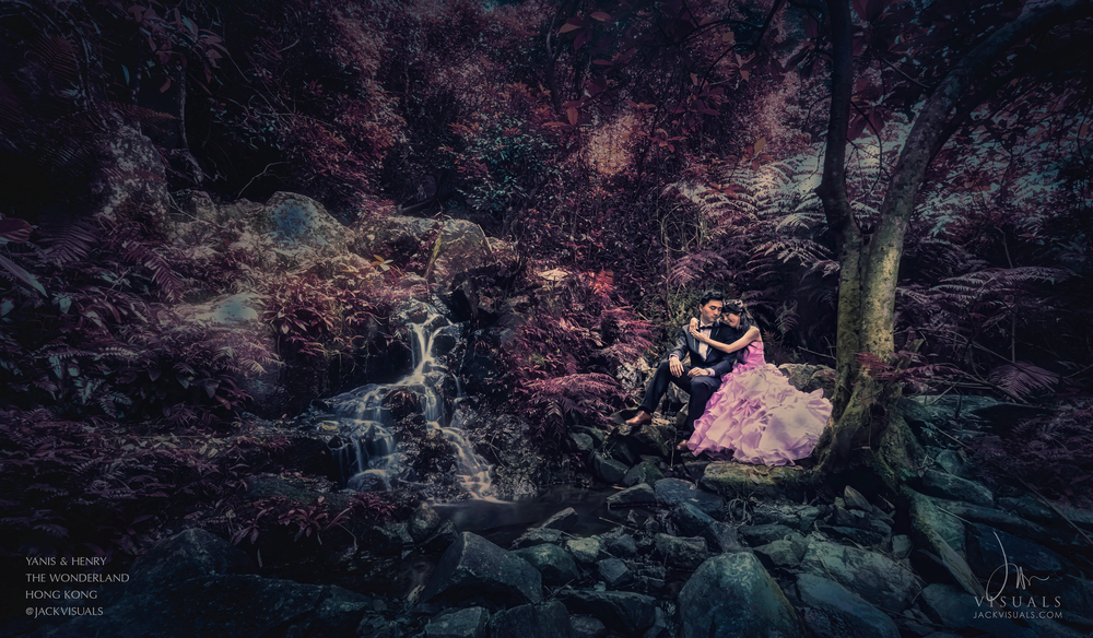 Pre-wedding photography at Shing Mun Reservoir