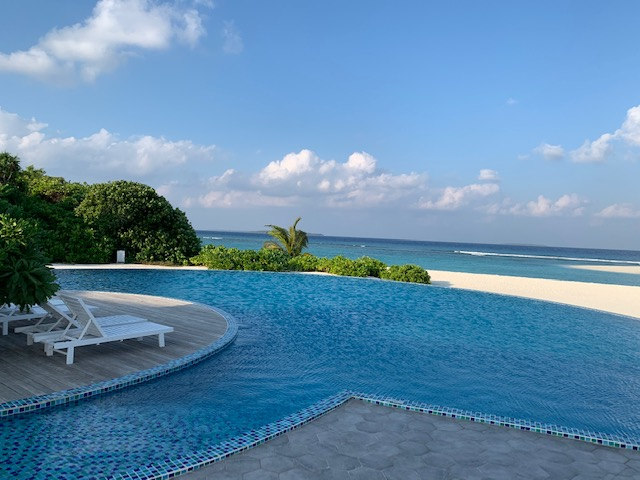 Pool auf den Malediven
