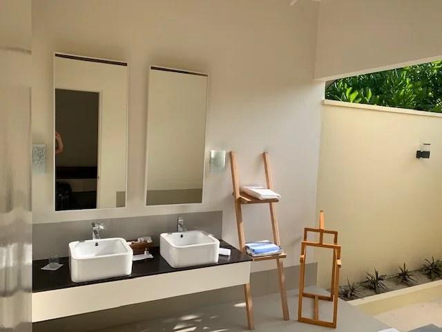 Badezimmer auf den Maldiven