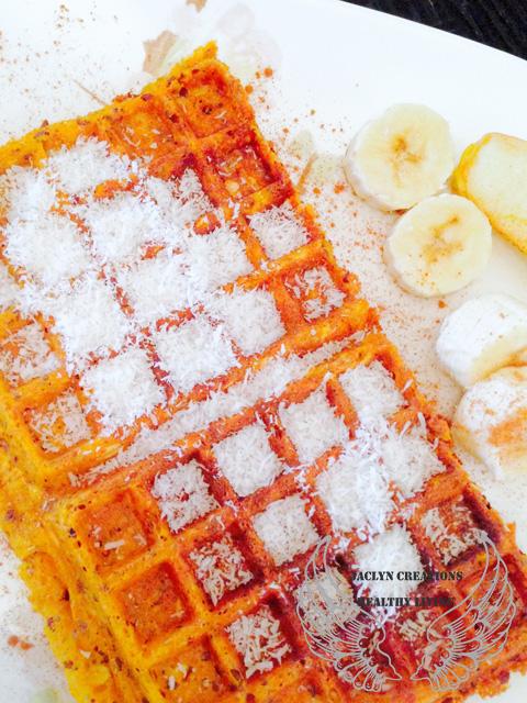 Vegan Gluten Free Sweet Potato Waffels