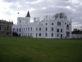 Strawberry Hill House, view from garden