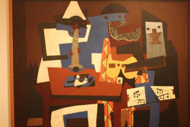 Three Musicians, Picasso - I like this because I can see what it is