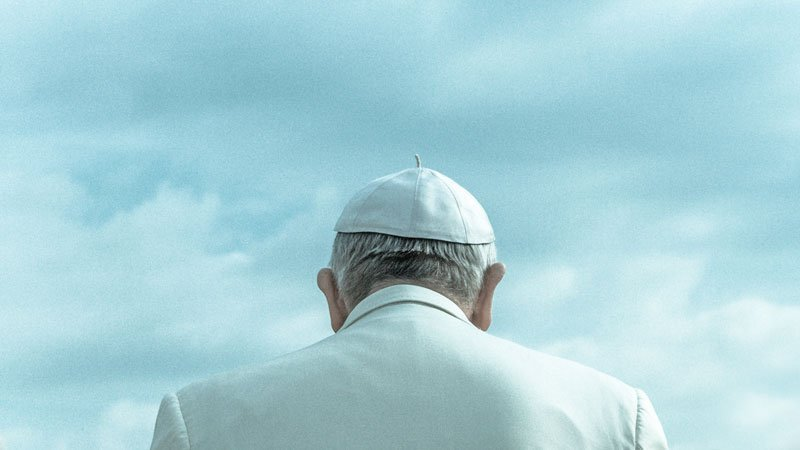 """Is an image of the """"Pope"""" from behind is proof that God exists?"""