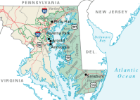 Maryland's first congressional district (click to enlarge)